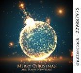Shining Christmas Ball On The...
