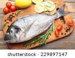 Fresh Raw Fish And Food...