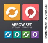 arrow icons  flat ui design...