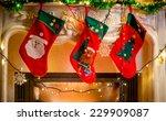 Three Red Christmas Stockings...