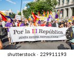 madrid   jun 7  thousands of... | Shutterstock . vector #229911193