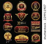 anniversary golden label... | Shutterstock .eps vector #229911907