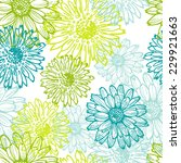 tender lace floral seamless... | Shutterstock .eps vector #229921663