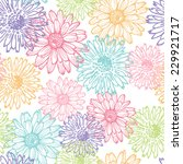 hand drawn  elegance floral... | Shutterstock .eps vector #229921717