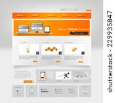 website template vector...