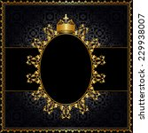 royal golden frame with crown... | Shutterstock . vector #229938007