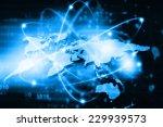 global business network   | Shutterstock . vector #229939573
