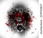 abstract werewolf | Shutterstock . vector #229943827