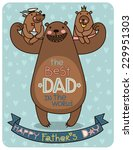 father's day illustration... | Shutterstock .eps vector #229951303