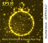 eps10 vector circuit board ball ... | Shutterstock .eps vector #229951417