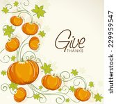 happy thanksgiving day... | Shutterstock .eps vector #229959547