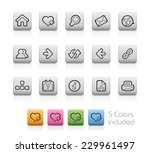 surf the net    outline buttons ... | Shutterstock .eps vector #229961497