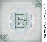 vector illustration of letter b ... | Shutterstock .eps vector #229962427