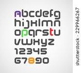 vector latin alphabet letters... | Shutterstock .eps vector #229966267