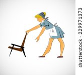 woman who does the cleaning | Shutterstock . vector #229971373