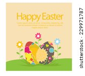 happy easter. vector | Shutterstock .eps vector #229971787