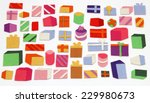 set of hand made christmas... | Shutterstock . vector #229980673