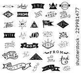 Catchwords design elements set. at, to, for, the, of, with, by, and, from | Shutterstock vector #229981477
