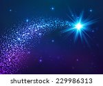 blue shining vector star with...