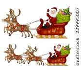 santa claus sleigh | Shutterstock .eps vector #229995007