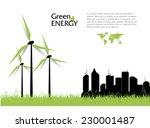 creative vector with wind... | Shutterstock .eps vector #230001487