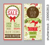 templates for christmas sale... | Shutterstock .eps vector #230002813