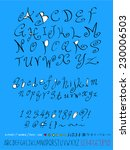 alphabet and numbers   hand... | Shutterstock .eps vector #230006503