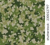 seamless camouflage pattern | Shutterstock .eps vector #230012797