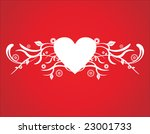 heart background with floral... | Shutterstock .eps vector #23001733