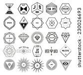 vector vintage  design elements ... | Shutterstock .eps vector #230026693