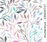 watercolor floral pattern.... | Shutterstock .eps vector #230035717