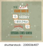 christmas greeting card | Shutterstock .eps vector #230036407