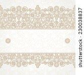vector floral border in eastern ... | Shutterstock .eps vector #230038837