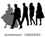 big crowds people of wedding on ... | Shutterstock . vector #230053393