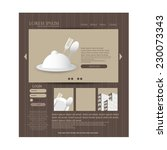 restaurant web design template