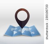 vector world map with... | Shutterstock .eps vector #230100733