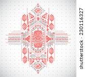 tribal vintage ethnic... | Shutterstock .eps vector #230116327