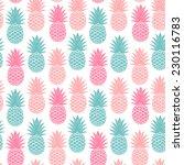 vintage pineapple seamless for... | Shutterstock .eps vector #230116783