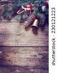 christmas fir tree with... | Shutterstock . vector #230121223