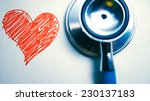 stethoscope and heart painted ... | Shutterstock . vector #230137183