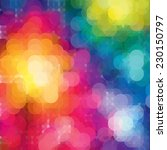 rainbow  bokeh background .... | Shutterstock .eps vector #230150797