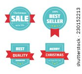 merry christmas sale badges.... | Shutterstock .eps vector #230152213