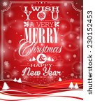 christmas illustration with... | Shutterstock . vector #230152453