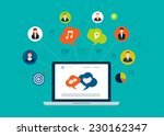 social network and teamwork... | Shutterstock .eps vector #230162347