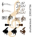 collection of musical design... | Shutterstock .eps vector #23016736