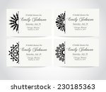 vintage ornamental invitation... | Shutterstock .eps vector #230185363