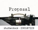 proposal on typewriter | Shutterstock . vector #230187223