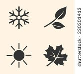 vector set of seasons icons.... | Shutterstock .eps vector #230201413