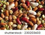 multicolored legumes background ... | Shutterstock . vector #230203603
