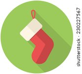 christmas stocking icon  flat... | Shutterstock .eps vector #230227567